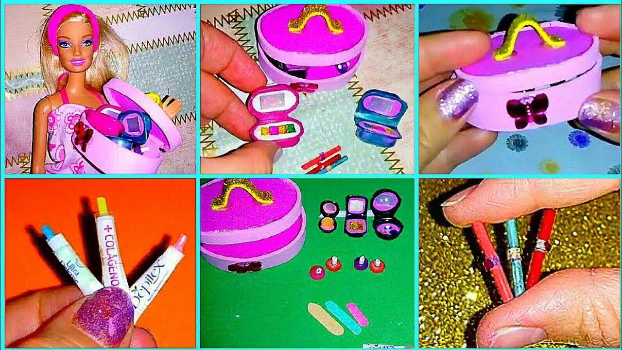 Diy Manualidades Miniaturas Accesorios De Maquillaje Fácil De Hacer Para Muñecas Barbie Youtube Paper Crafts Diy Tutorials Paper Crafts Diy Crafts