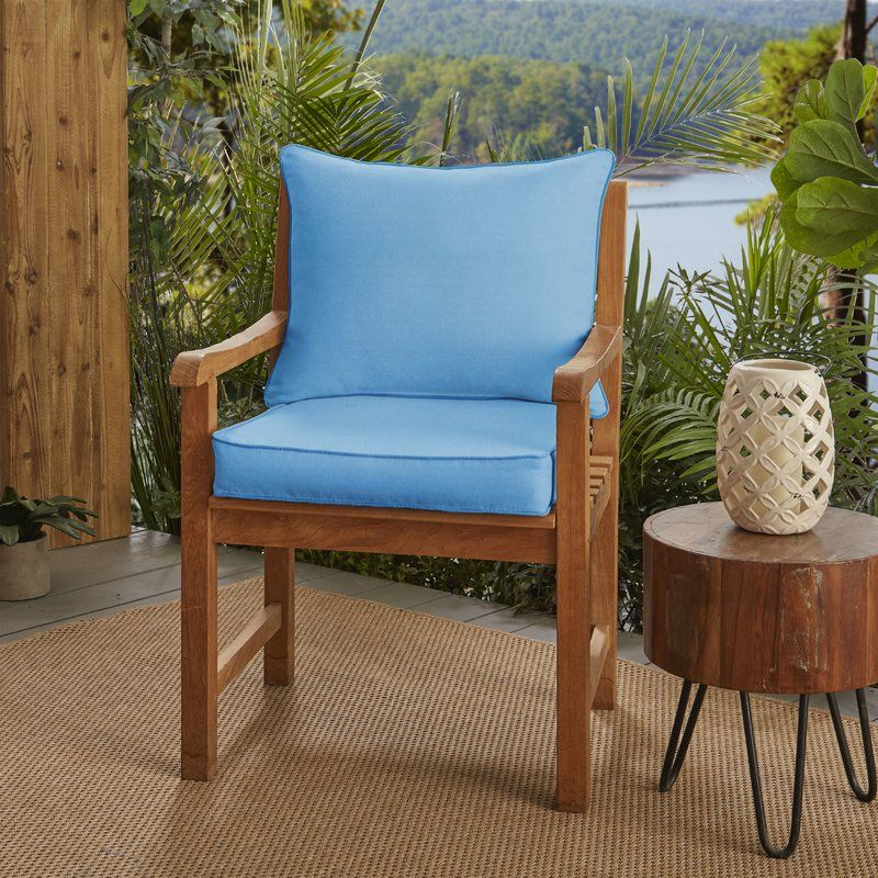 DoublePiped Outdoor Sunbrella Lounge Chair Cushions
