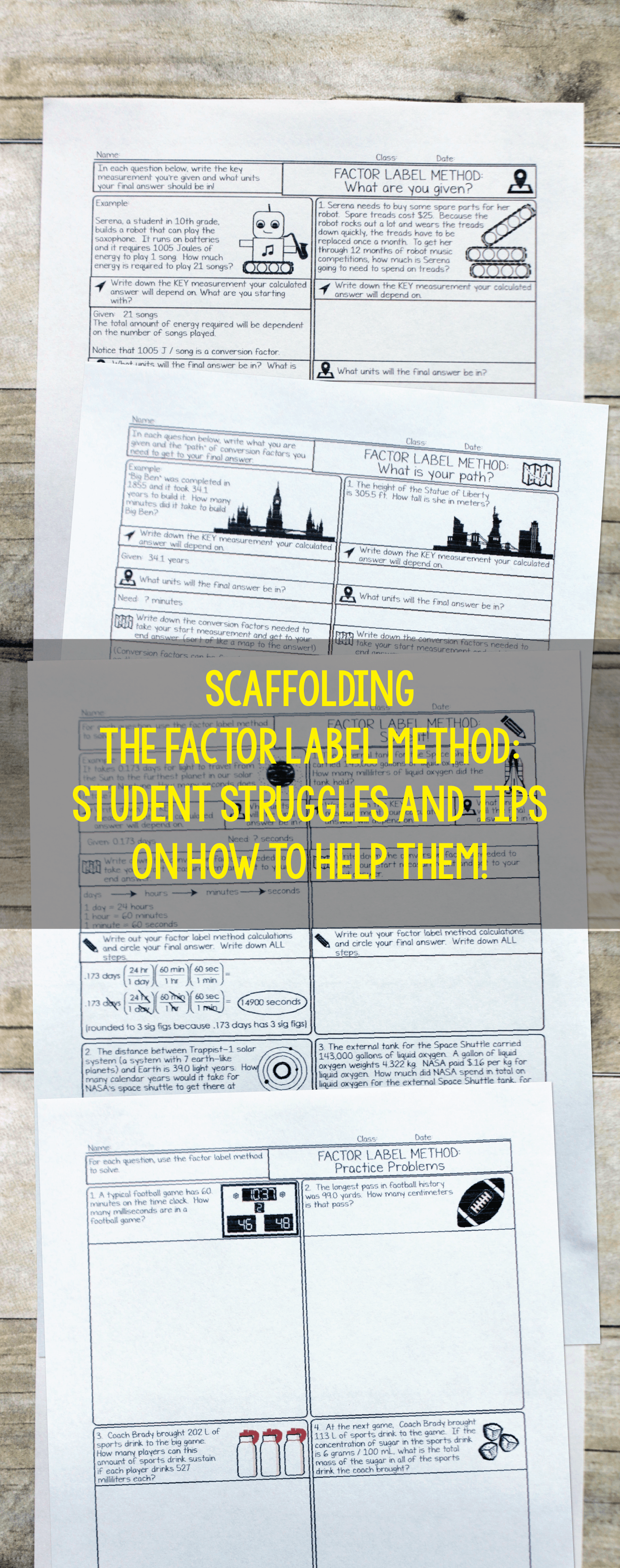 Scaffolding The Factor Label Method In The Chemistry