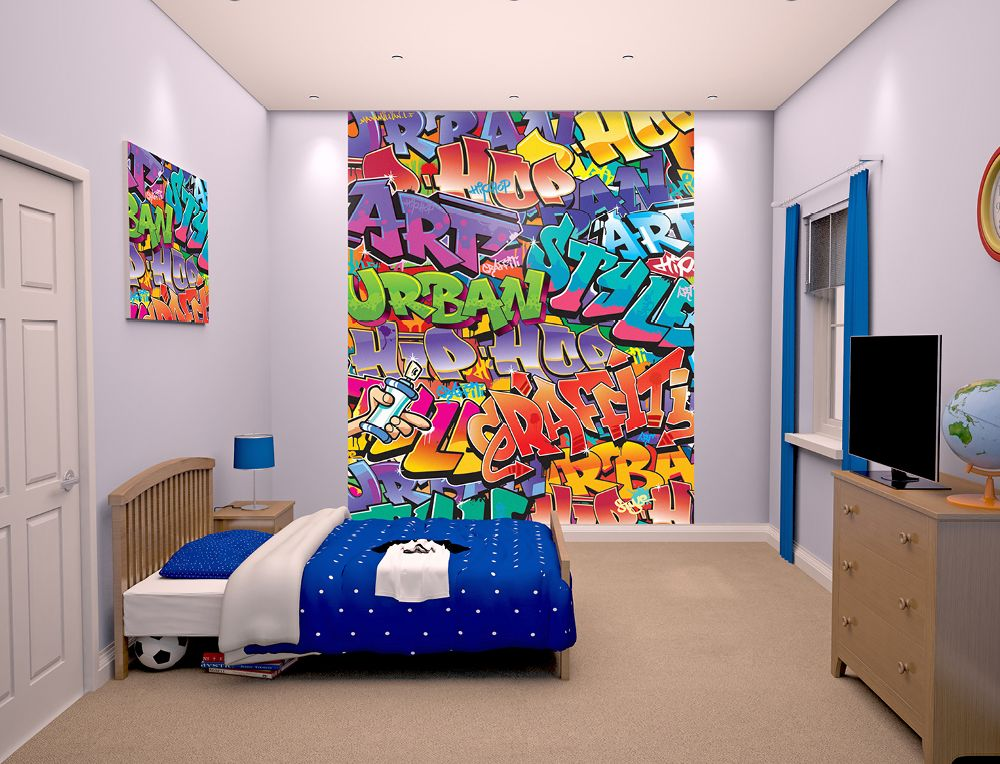 Graffiti Wallpaper For Bedrooms   Google Search
