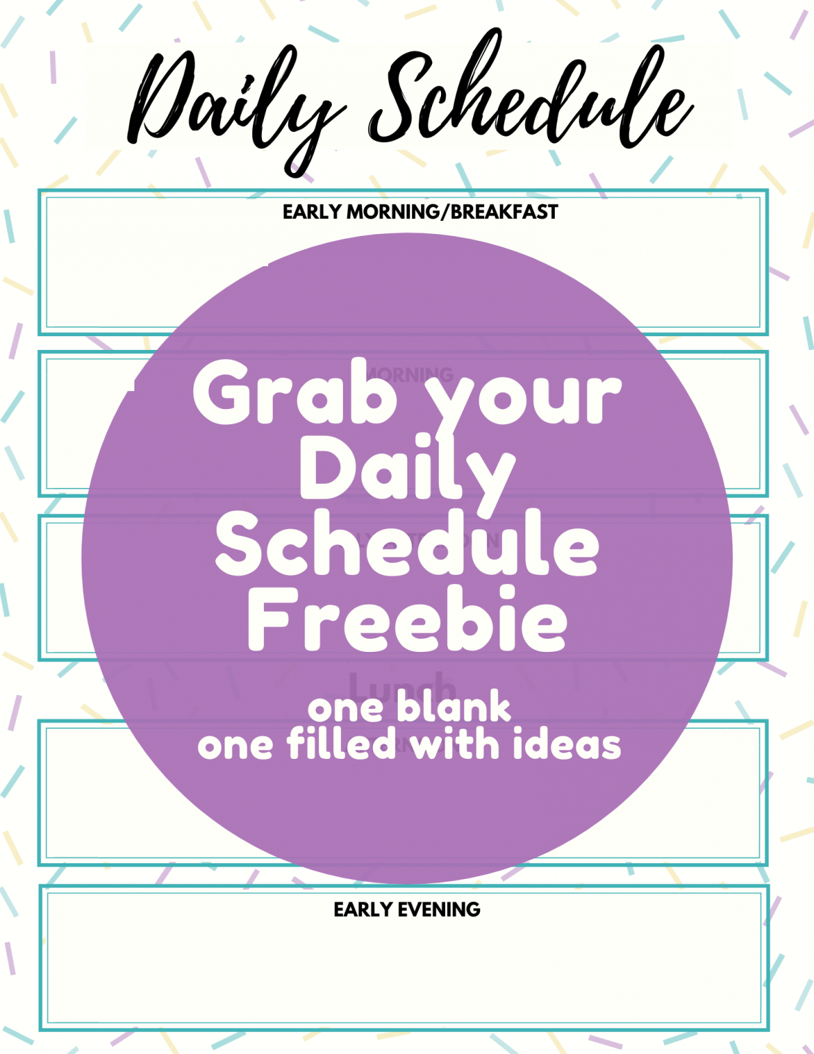 Free Daily Schedule In