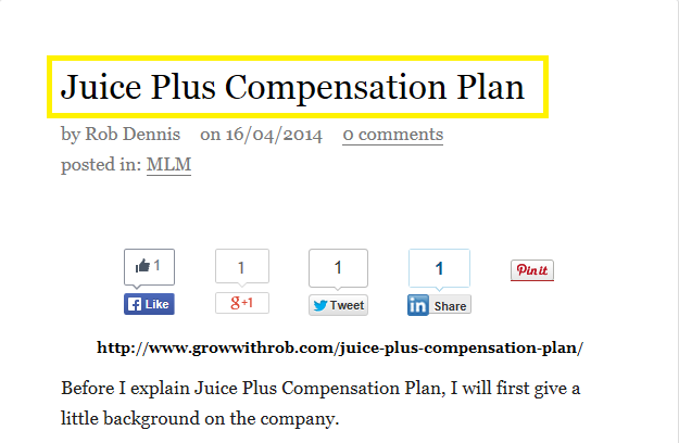 Juice Plus+ Compensation Plan (juice plus compensation ...