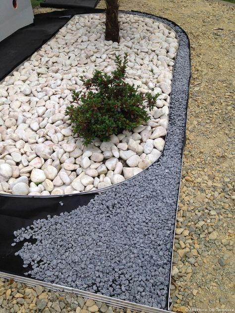 Pas-à-pas  créer une allée graphique Garden Ideas Pinterest - mettre du gravier dans son jardin