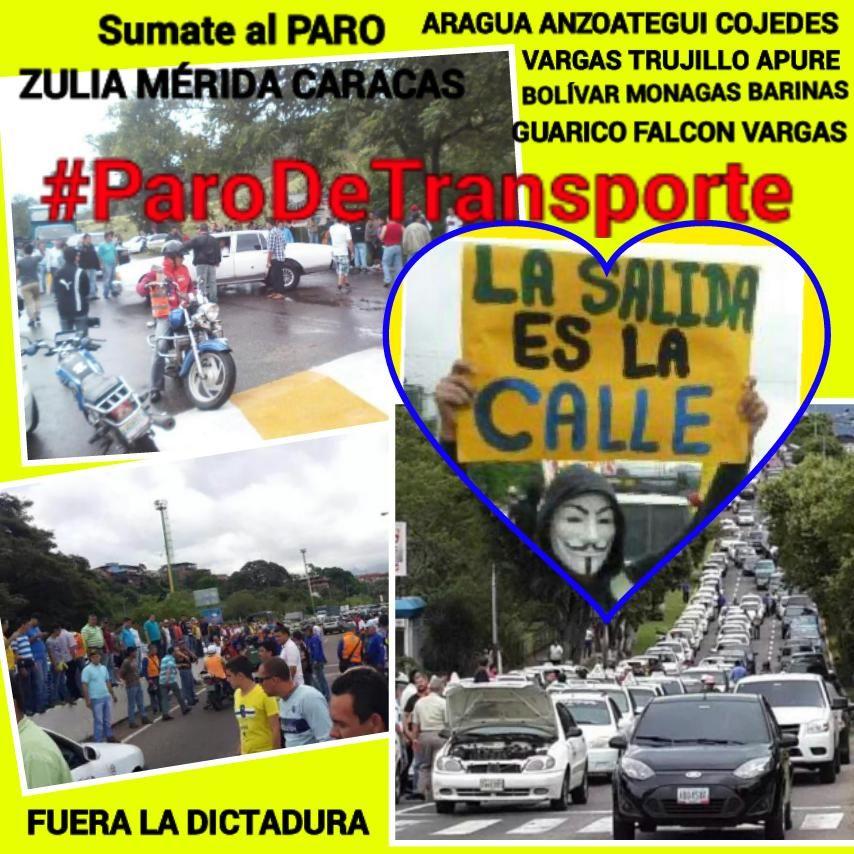 Venezuela Grita LIBERTAD #ParoDeTransporte  SALGAMOS de Esta Pesadilla UNIDOS somos más fuertes