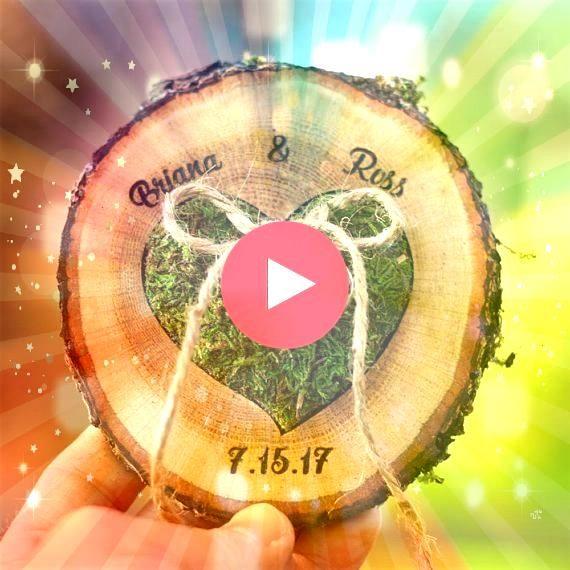 Box Alternative  WANDANZEIGE Ringträger Display Land Hochzeit Vorschlag Ringhalter Ehering Woodland Ringhalter Kissen  Hochzeit Ehering Box Alternative  WANDANZEIGE...