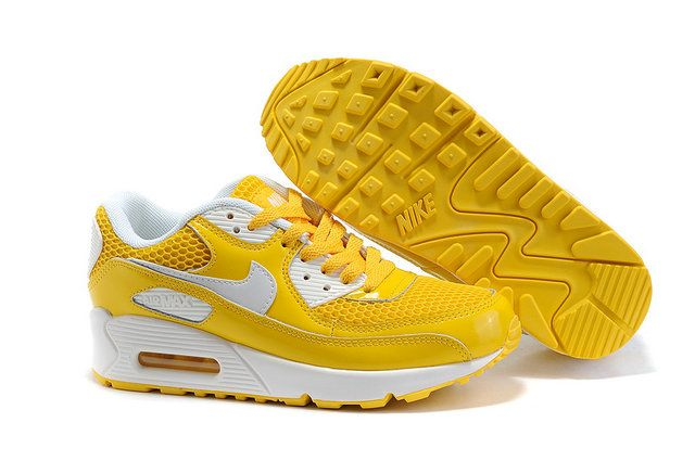 Dames AIR MAX 90 W011 Geel Wit [MODELNIKE 00900] - €75.99 ...