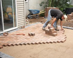 Renew An Old Concrete Patio With Decorative Brick Or Pavers You Don T Have To Remove The Here S How Do It Quickly And Easily