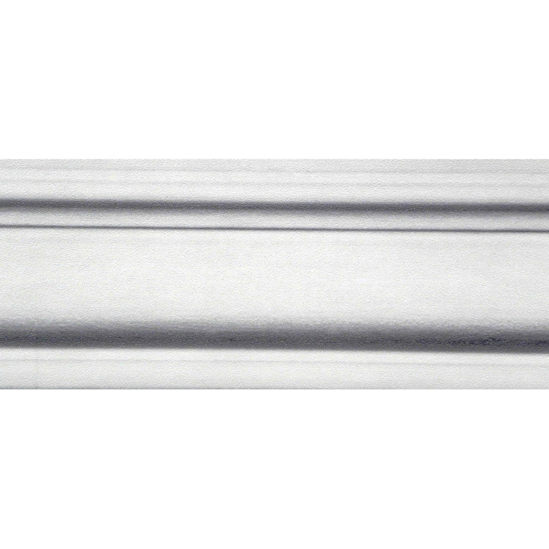 Galon Vinyle Expanse Adhesive Aspect Corniche L 5 5 Cm X L 10 M Blanc Vinyle Corniche Et Bordure