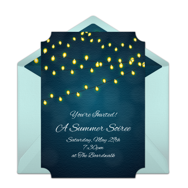 Free Summer Party Invitations Whimsical Online Invitation You Can Personalize And Send Via Email For The Perfect Evening Cookout This
