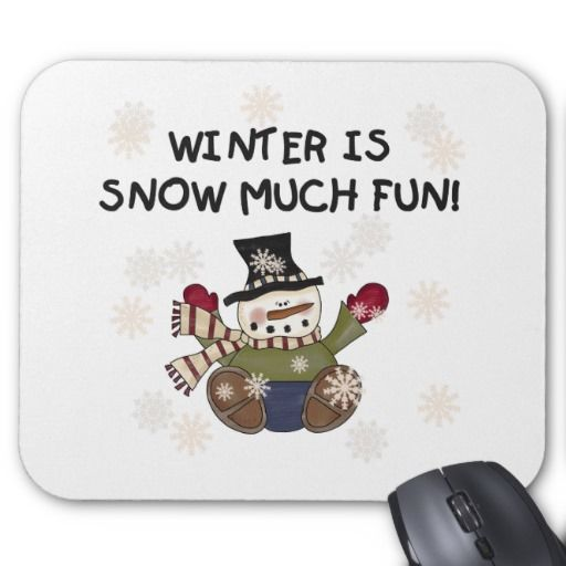 snow much fun mouse pad mice and snow