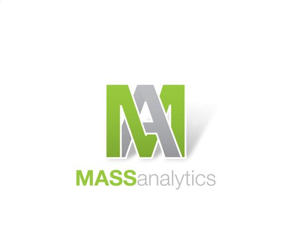 m a letter logo mass analytics business resources pinterest