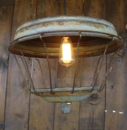 Repurposed Turkey Feeder Light Fixture For Above My Kitchen Table