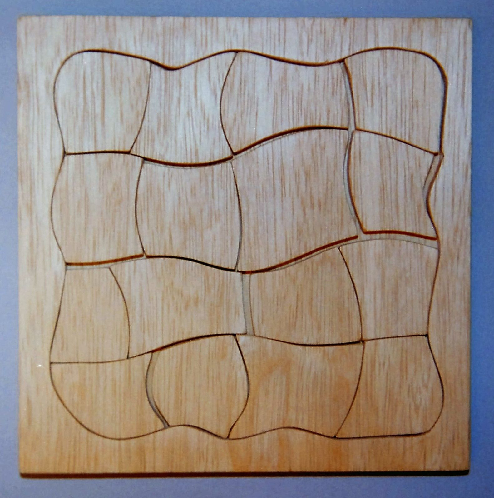 Holz, Spielzeug, Puzzle mit Rahmen und Grundplatte, ca. 15 x 15 cm ...
