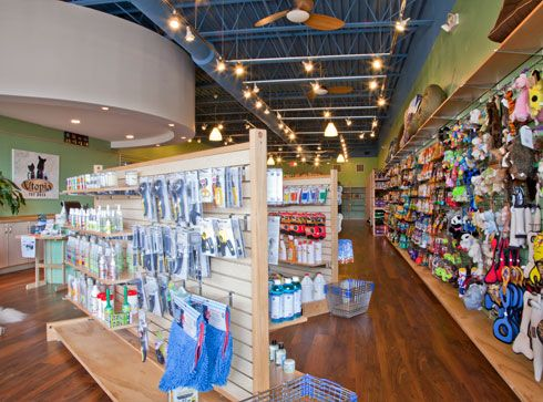 Pet Supply Store Princetons Finest Local Pet Food And Pet Accessory Boutique Pet Supply Stores Pet Store Design Pet Store Display
