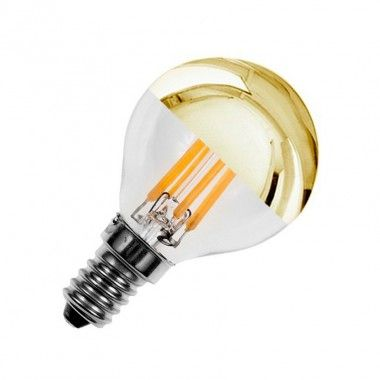 Ampoule LED E14 Dimmable Filament Gold Reflect G45 3.5W | SHOPPING ...