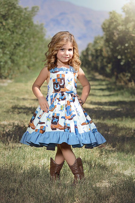 cowboy boot dress by SoSoHippo on Etsy