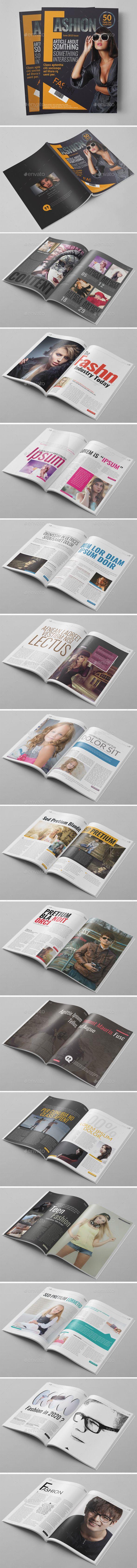 30 Pages Fashion Magazine - Photoshop PSD   Photoshop, Magazines ...
