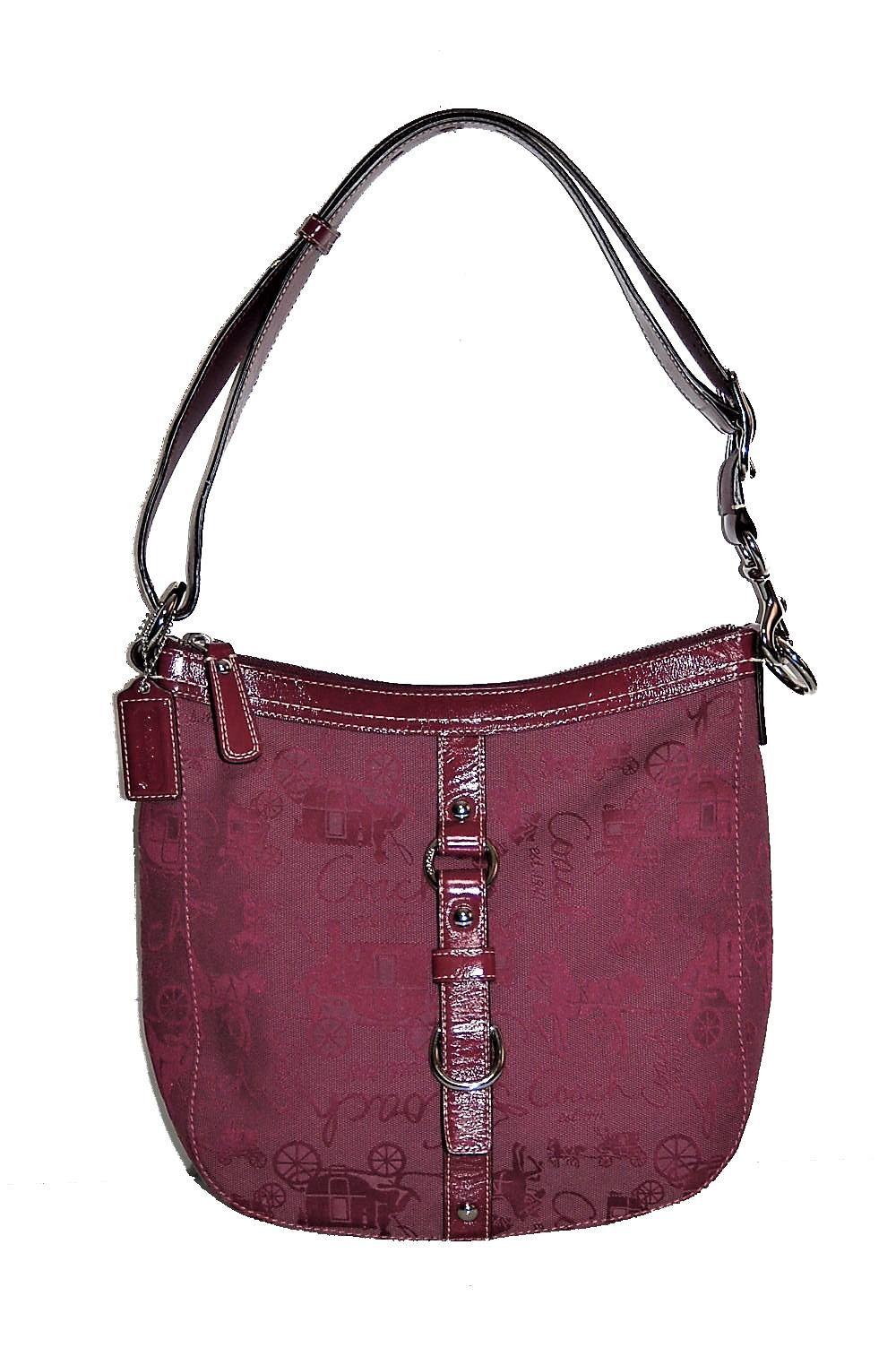 4165f0dccb59c Coach New F14036 Chelsea Horse Carriage Convertible Berry Purple Cross Body  Bag. Get the trendiest Cross Body Bag of the season!