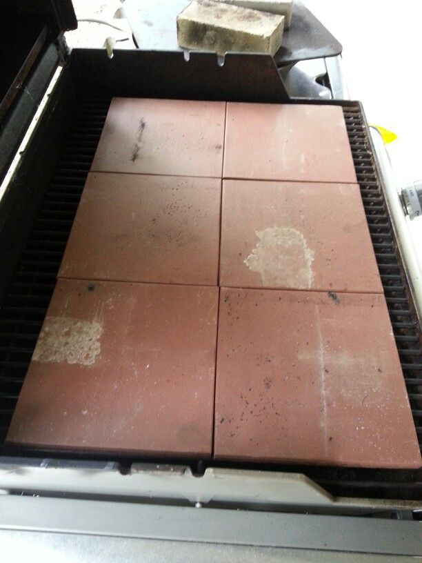 Step 1 Line The Grill Grates With Either Unglazed Ceramic Tiles Or An Old Pizza