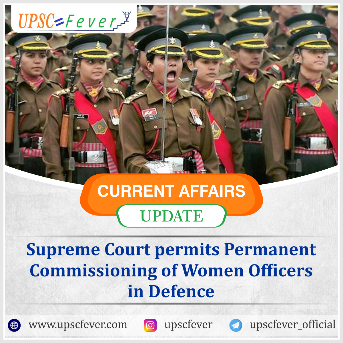 On February 17 2020 the Supreme Court of India upheld the judgement of Delhi High Court and pronounced that permanent commissioning is allowed to all women officers irres...