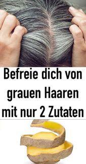 Sbarazzati dei capelli grigi con solo 2 ingredienti – Rosa Gausepohl – #befreie #ga …