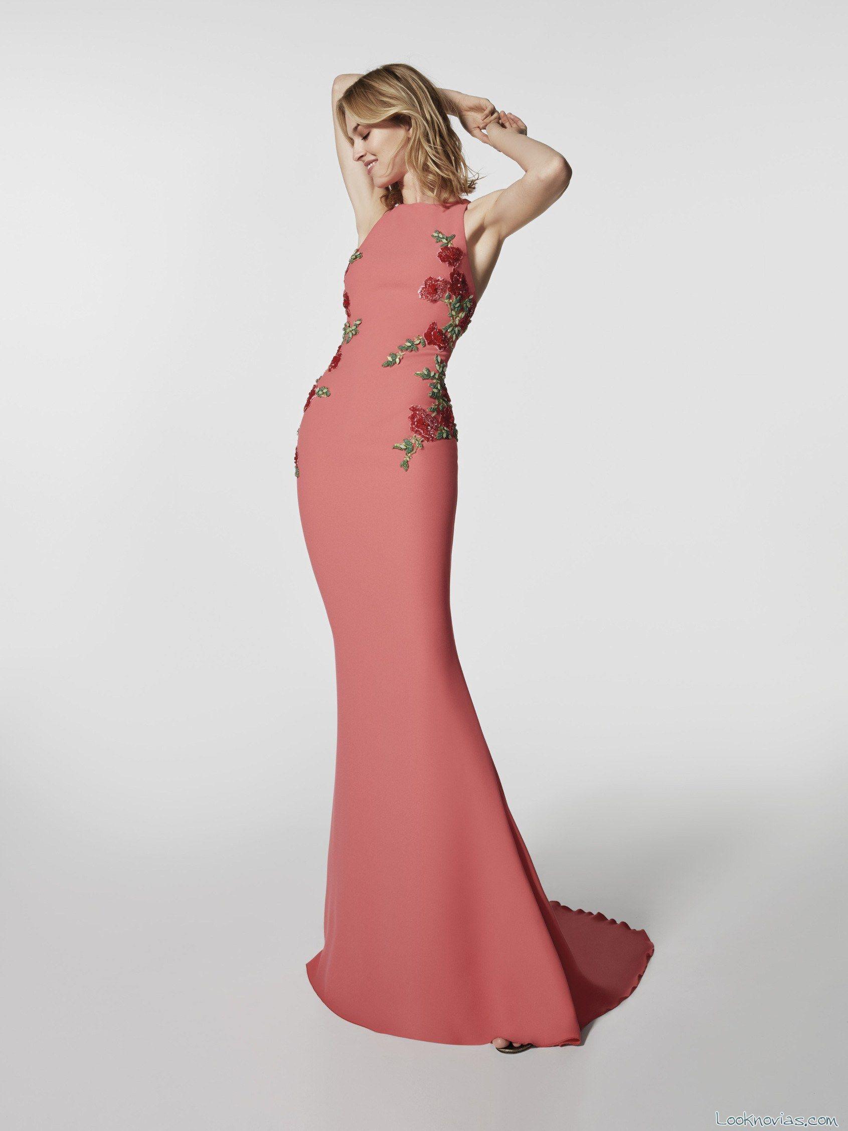 vestido recto avance colección 2018 | vestidos largo | Pinterest ...