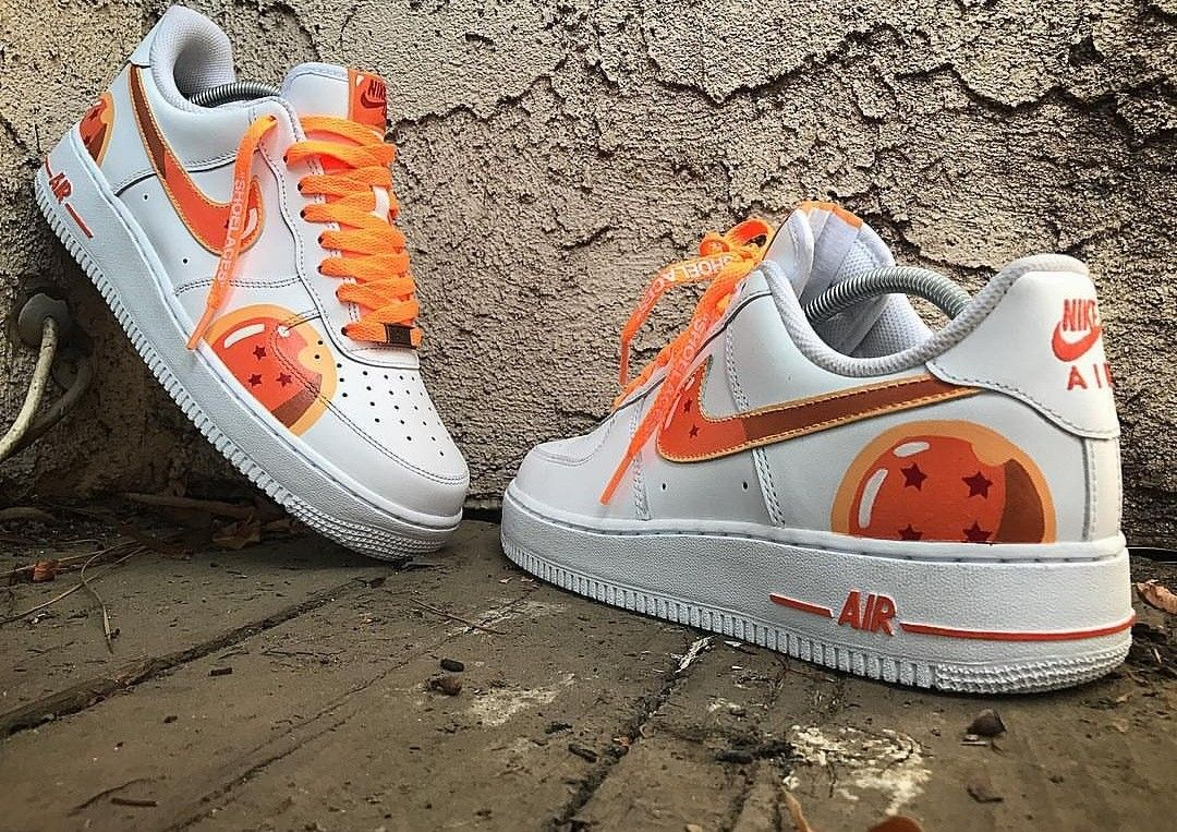 97698f0ab6a7a Custom painted dragon ball z dragon ball nike air force 1 s done by   canyoncitycustoms