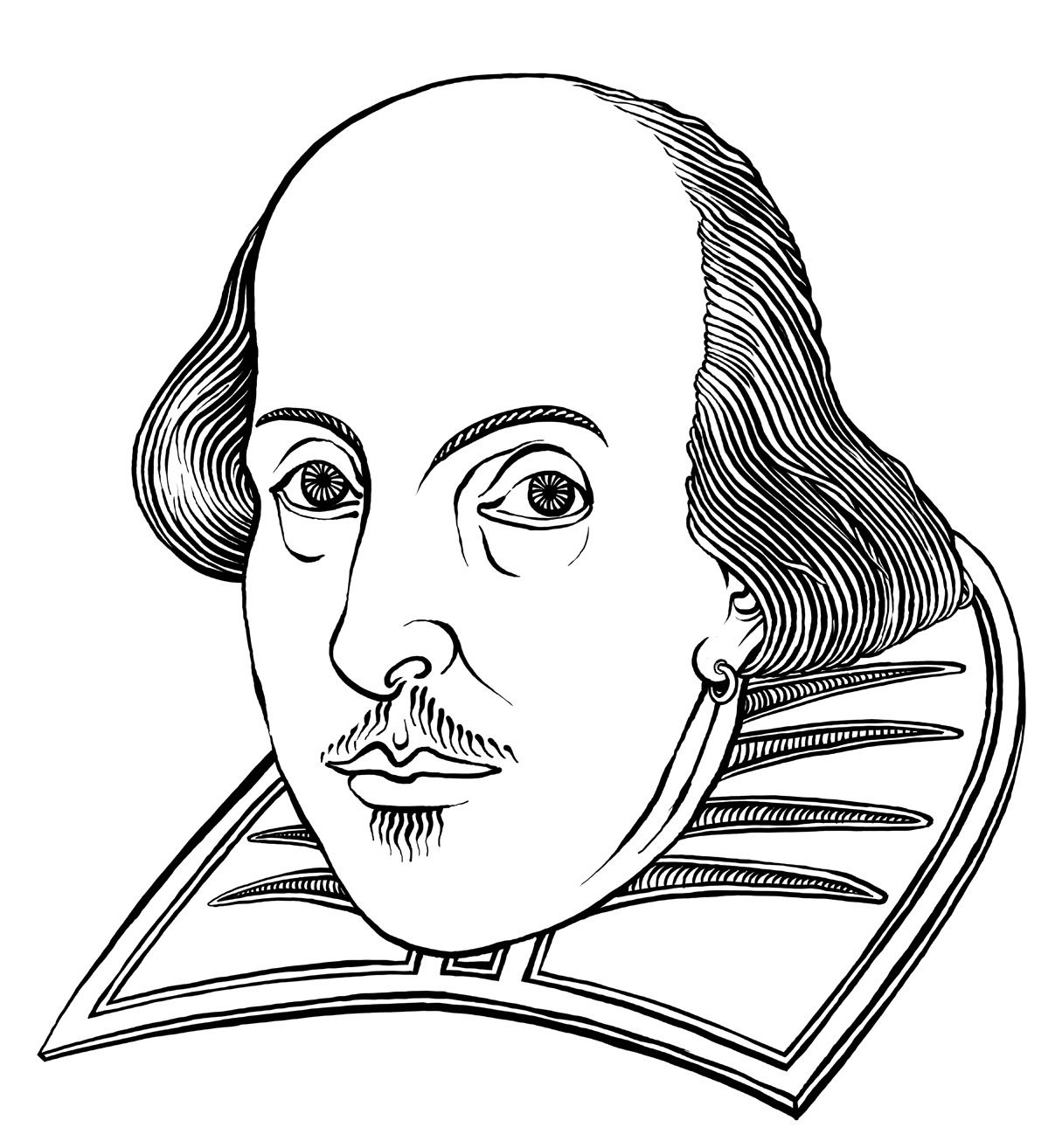 William Shakespeare Image Coloring Pages Drawings Shakespeare