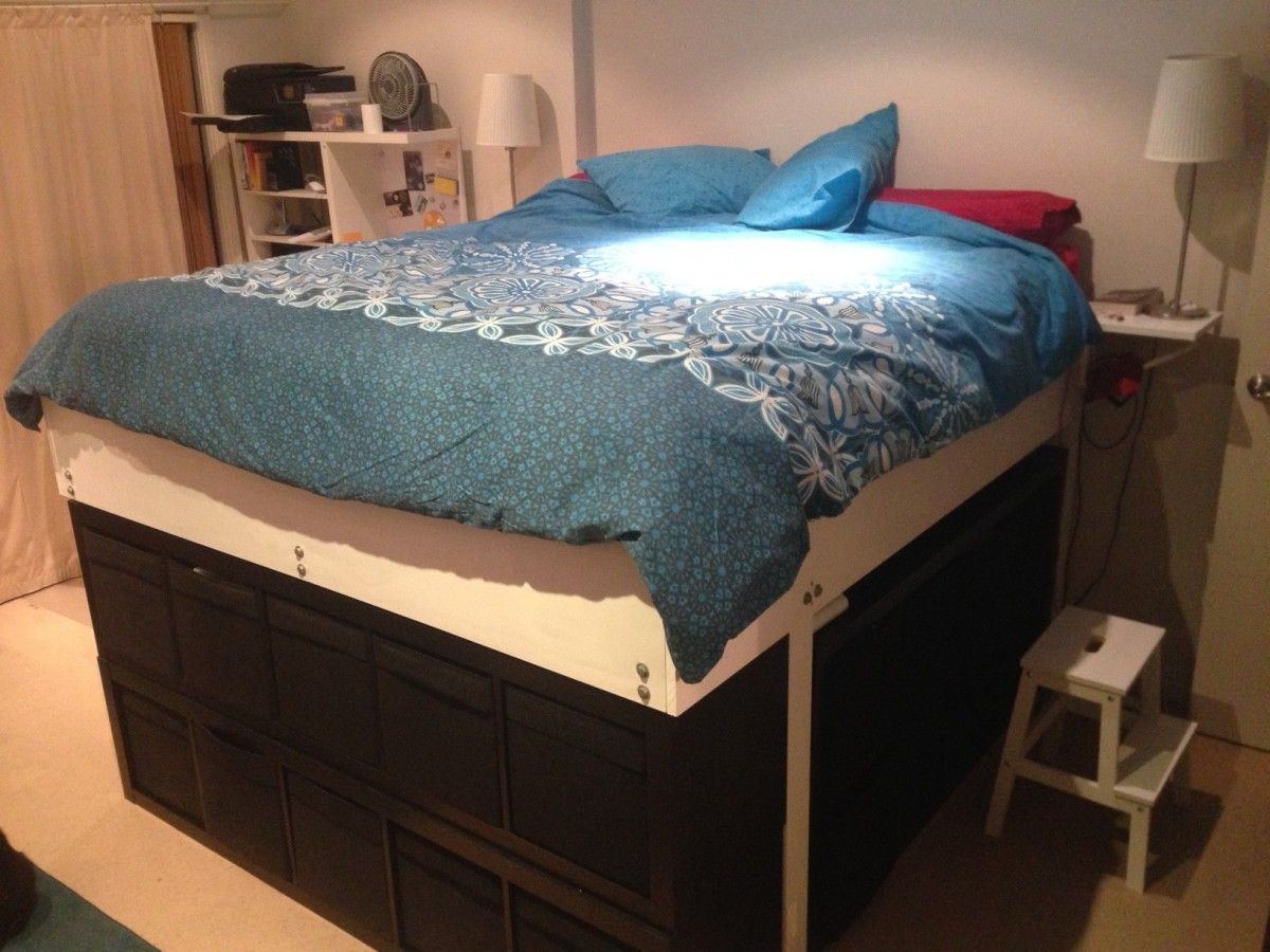 Monster Expedit King Bed New Bed King Storage Bed