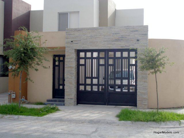 Puerta de cochera contempor nea herreria pinterest - Puertas para porches ...