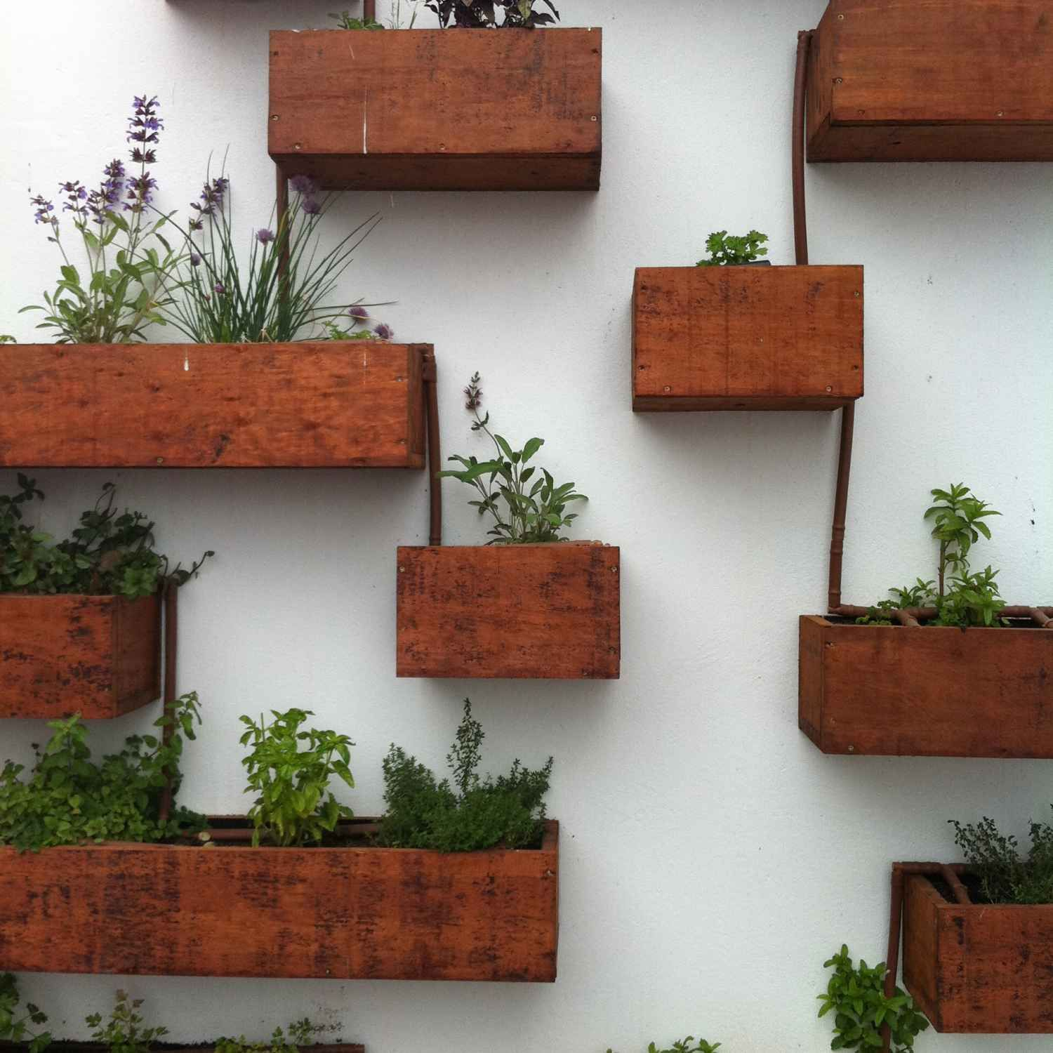 fall diy indoor herb garden wall planter mounted living buy kitchen ideas how to make - Outdoor Planter Wall Kitchen Designs