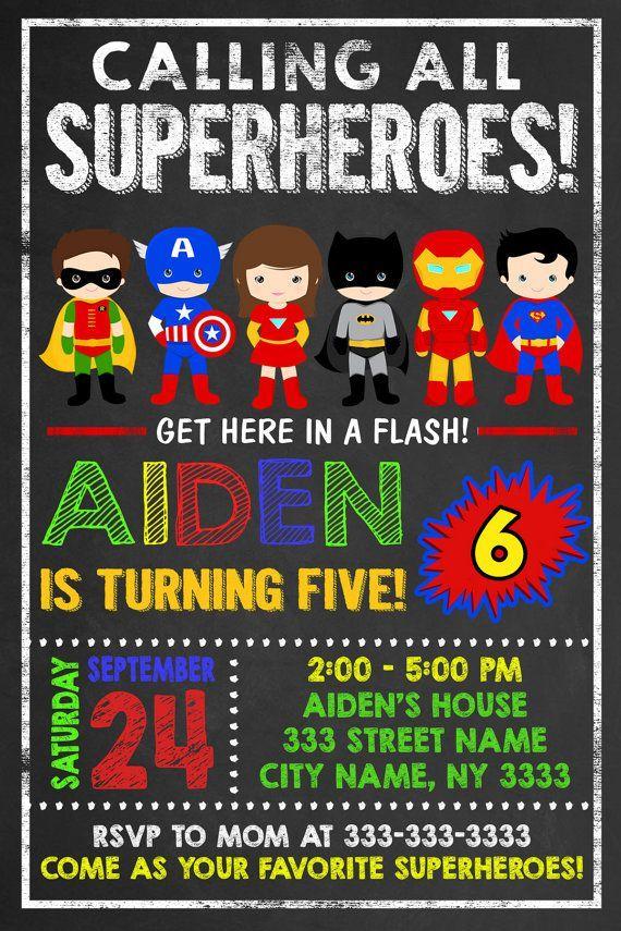 Superhelden Einladung Zum Ausdrucken : Superhelden Einladungskarten ...