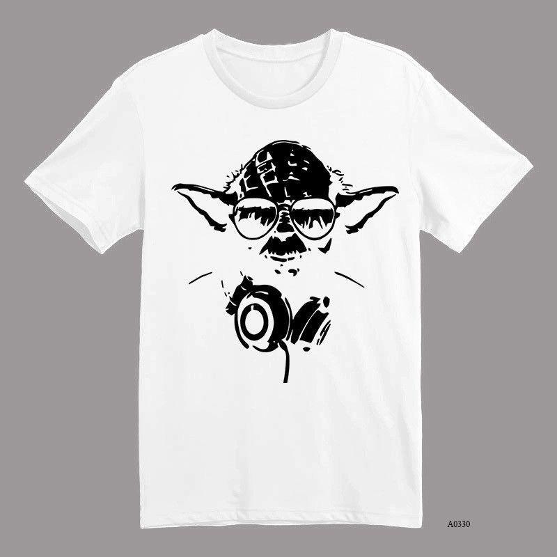 Short Sleeve Cool Star WarsRamones Cartoon Tshirts Men Brand T - Custom vinyl decals for t shirt printing
