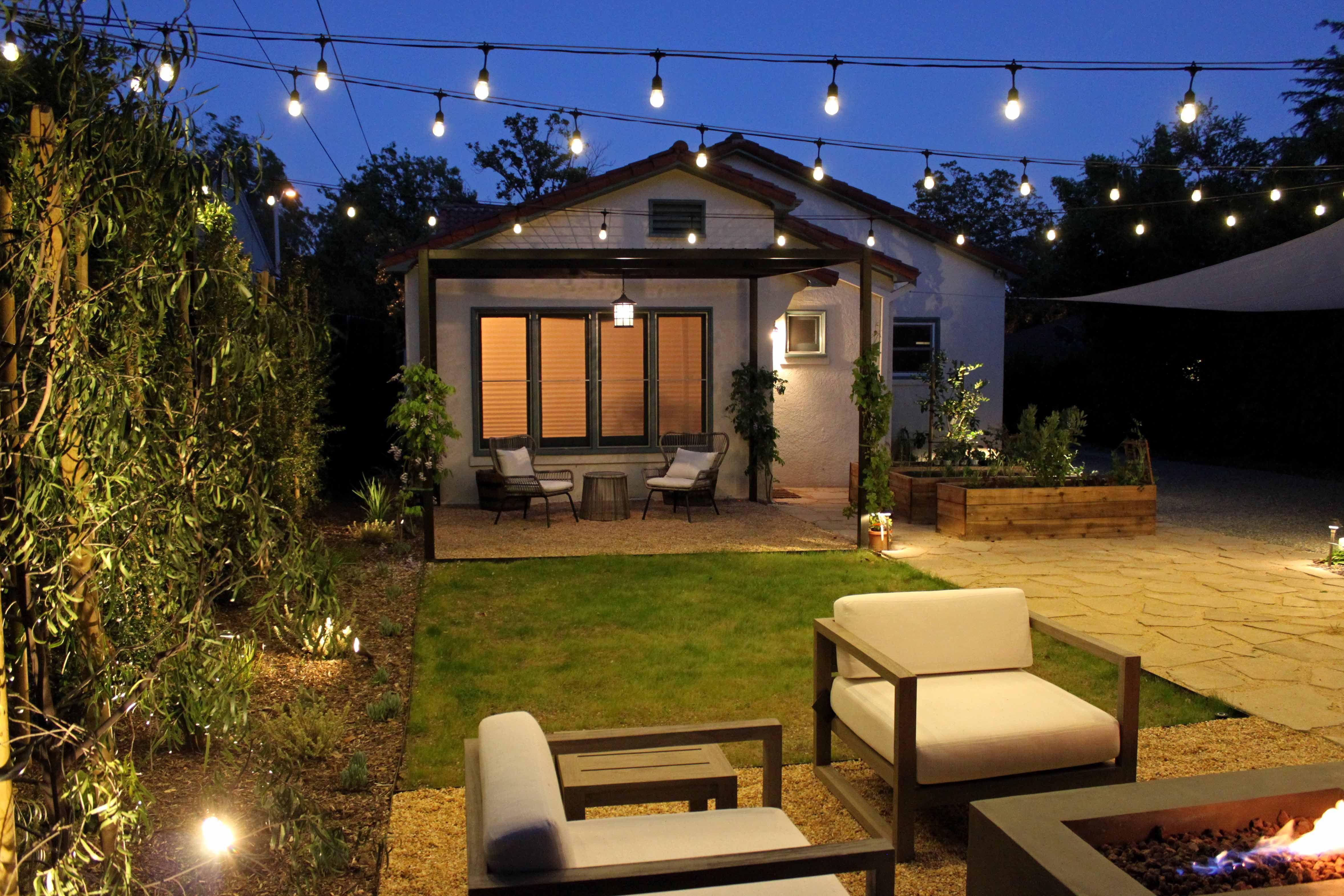 Backyard Lighting Los Angeles Sustainable Landscape Design