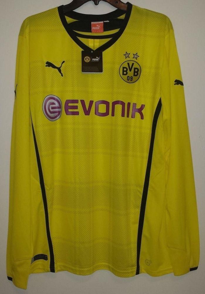 NEW Puma Borussia Dortmund BVB Germany Long Sleeve Soccer Futbol Jersey  743557  Puma  BorussiaDortmund e032c4996