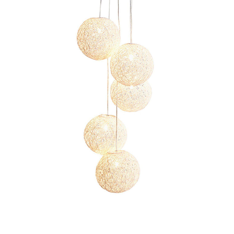 Stylische Hangeleuchte Cocoon Pearls 140cm Weiss Hangelampe Mit 5