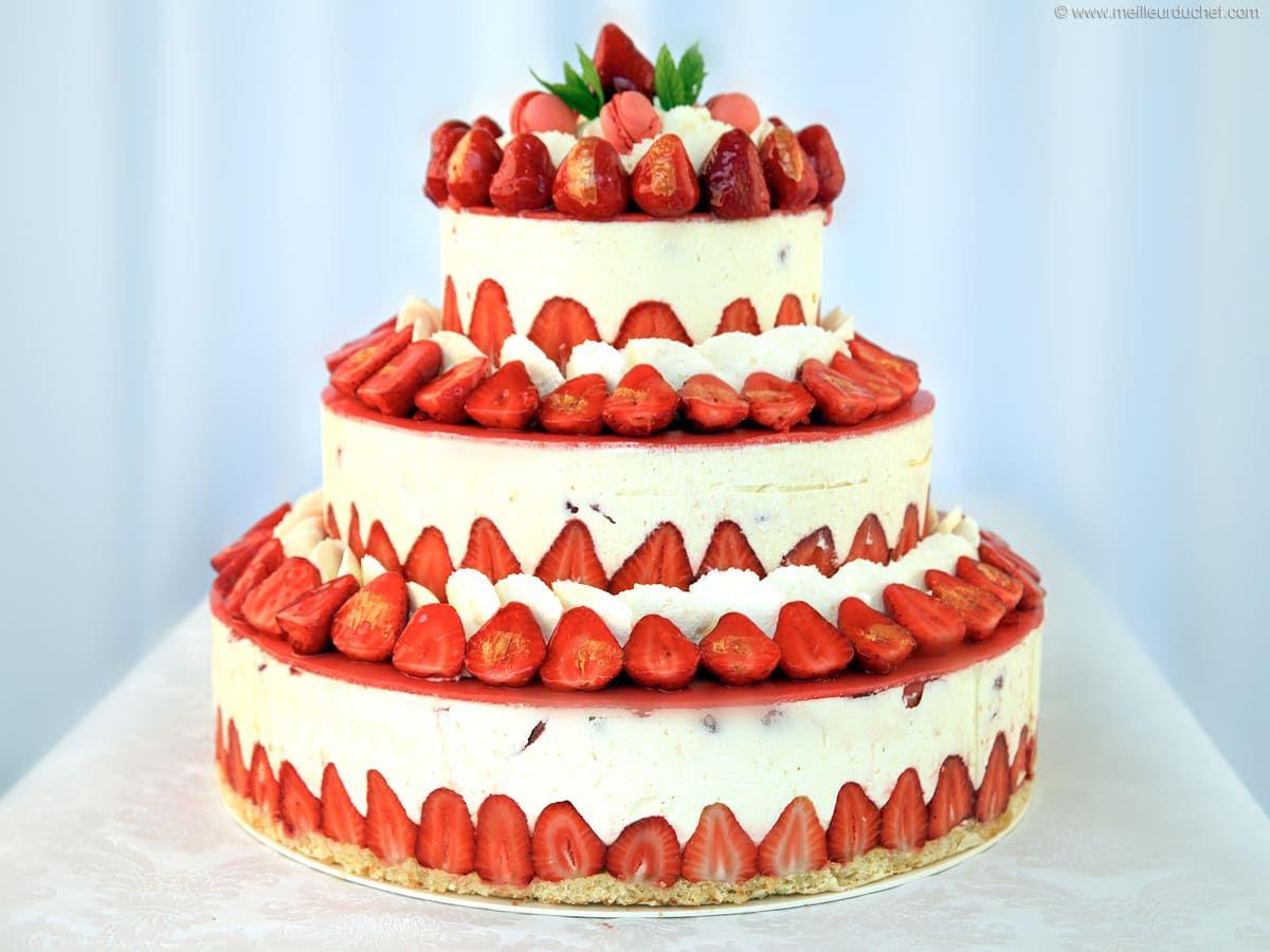 Fraisier Strawberry Wedding Cake Recipe Strawberry Wedding Cakes Wedding Cake Recipe Cupcake Cakes