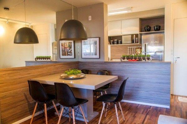 Apartamento decorado de 60m² - Sala de jantar