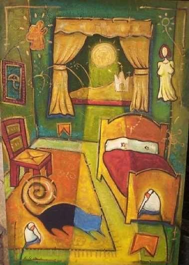 Este quadro e uma releitura do quarto de Van Gogh ,porem com meus ...