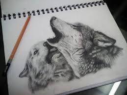 Resultado de imagen para dibujos de lobos decorados con zentangle