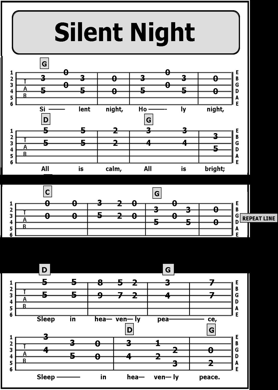 Guitar TAB Songs CHRISTMAS SONGS Guitar songs for