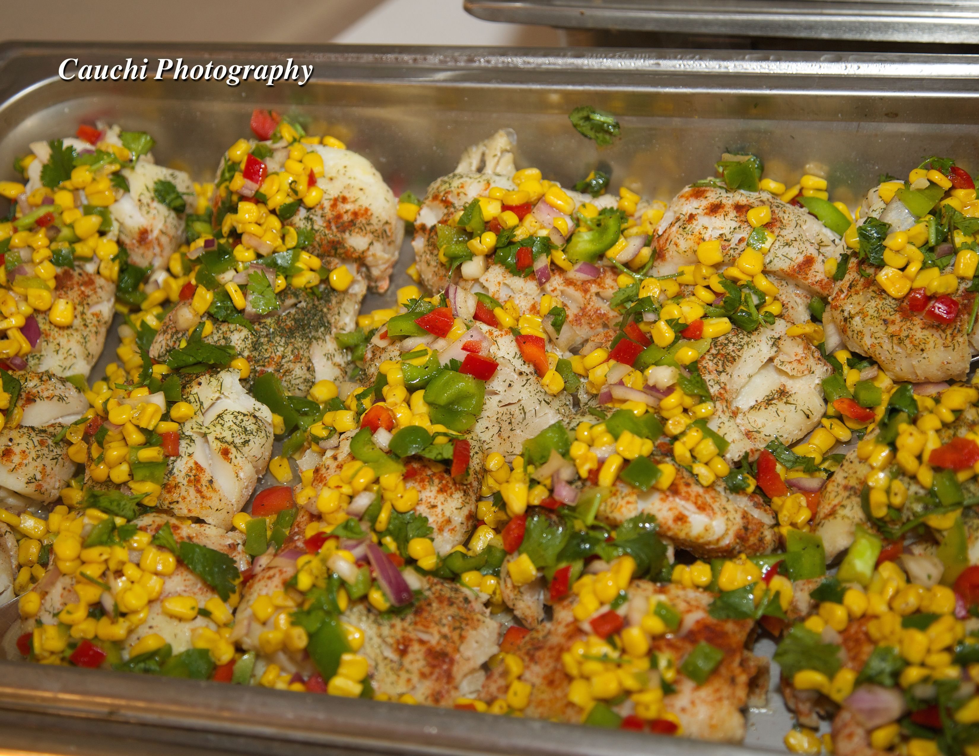 red snapper with corn relish buffet style cauchi photography rh pinterest com