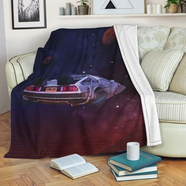 btf blanket back to the future marty mcfly delorean dmc bttf 02115