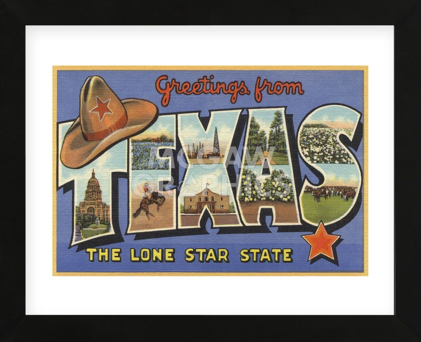 Greetings from texas framed texas and products greetings from texas framed kristyandbryce Choice Image