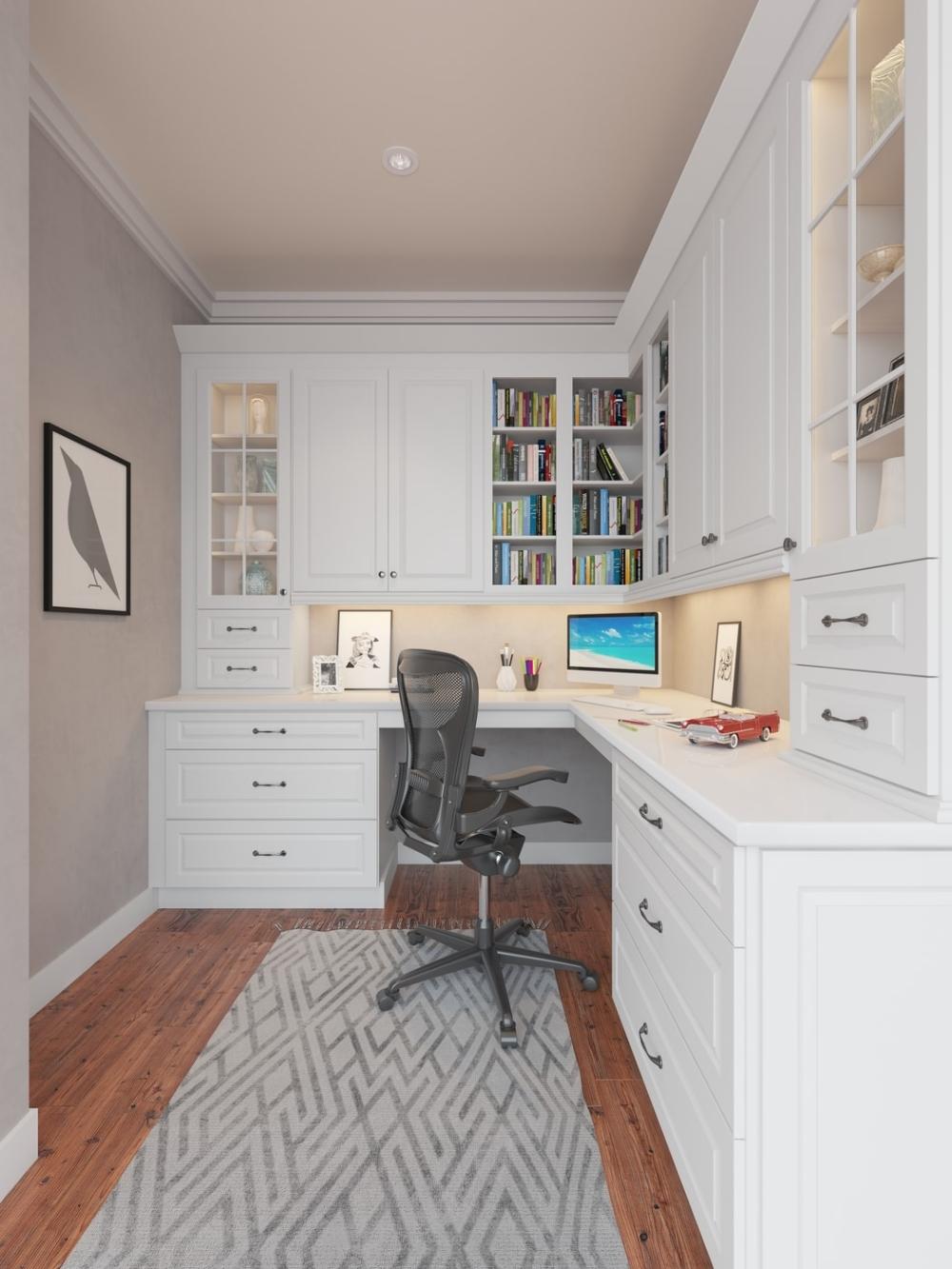 Dakota White Rta Kitchen Cabinets The Rta Store Home Office Design Home Office Cabinets Home Office Layouts