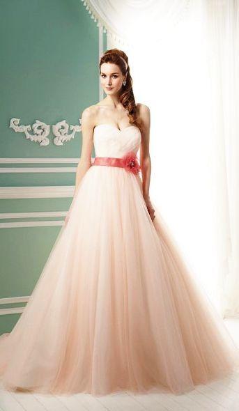 I Want This Pastel Pink Wedding Dress