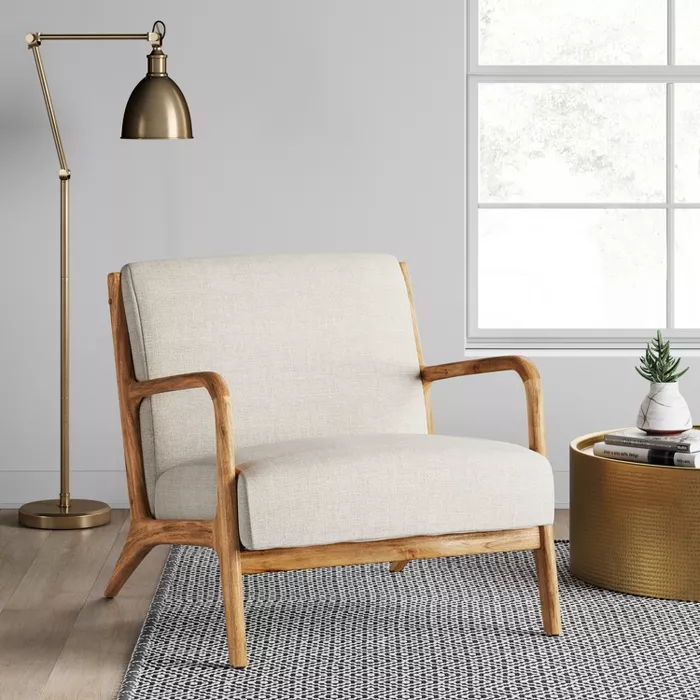 Esters Wood Arm Chair Light Gray Project 62 Target In 2020 Target Living Room Target Home Decor Living Room Chairs