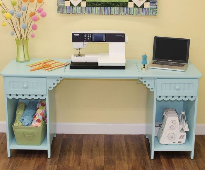 Arrow 1009 Olivia Sewing Cabinet In Tiffany Blue