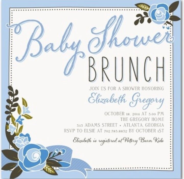 Baby Shower Luncheon Invitations