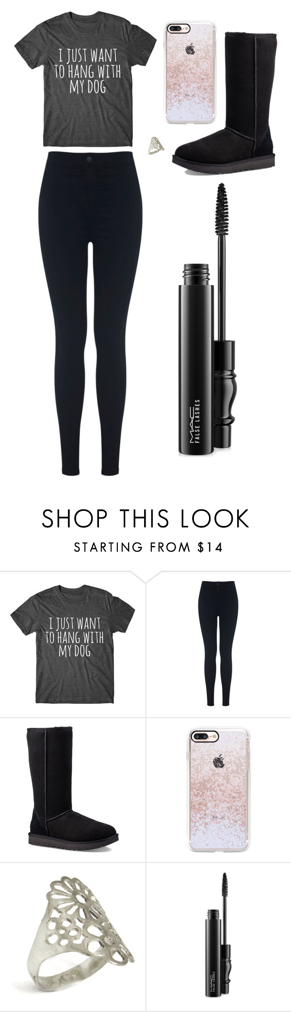 """Sans titre #2615"" by merveille67120 ❤ liked on Polyvore featuring Miss Selfridge, UGG, Casetify and MAC Cosmetics"